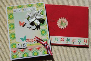 Lillian's 15th bday card