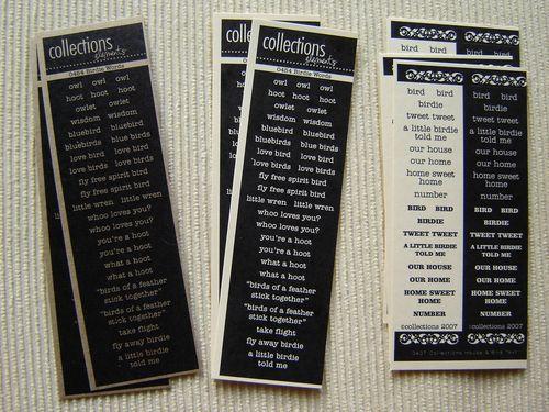 Collections Birdies Words
